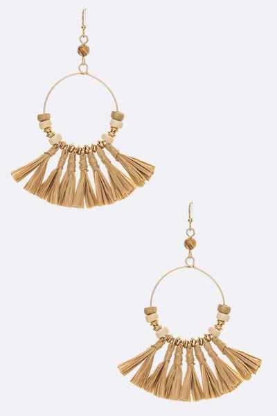 Raffia Tassel Iconic Earrings