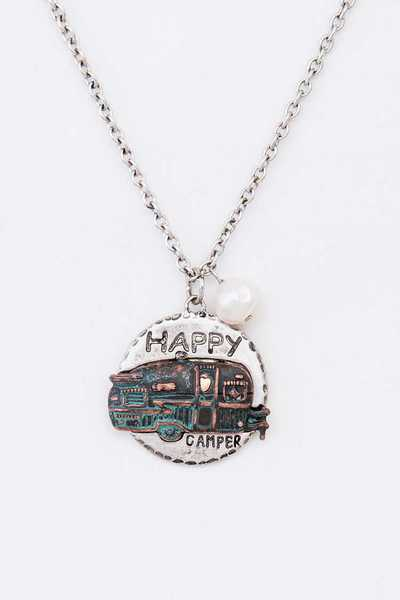 Happy Camper Pendant Necklace