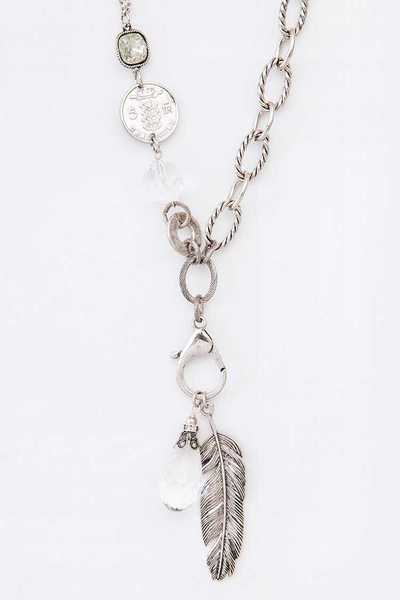Feather Charm Convertible Pendant Necklace