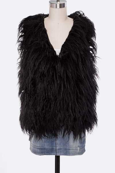 Faux Shearling Shaggy Vest