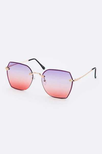 Ocean Tint Square Sunglasses Set