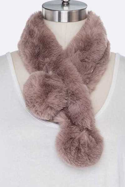 Soft Faux Fur Plushy Scarf