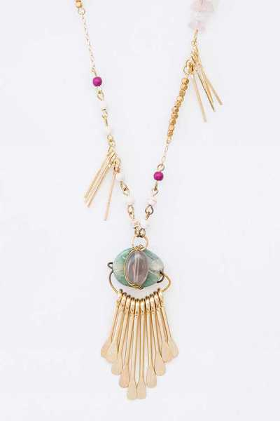 Mix Genuine Stone Iconic Layer Necklace