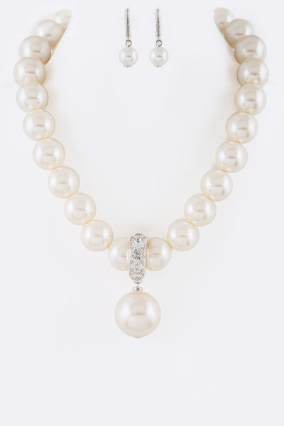 Pearl Drop Iconic Bridal Necklace Set