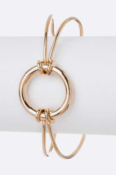 Wired Ring Dainty Metal Cuff