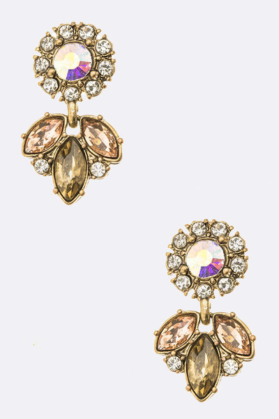 Crystal Iconic Mini Drop Earrings