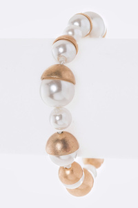 Iconic Hand Knot Pearl Station Magnetic Bracelet