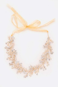 Wired Pearl and Crystal Convertible Structure Headband