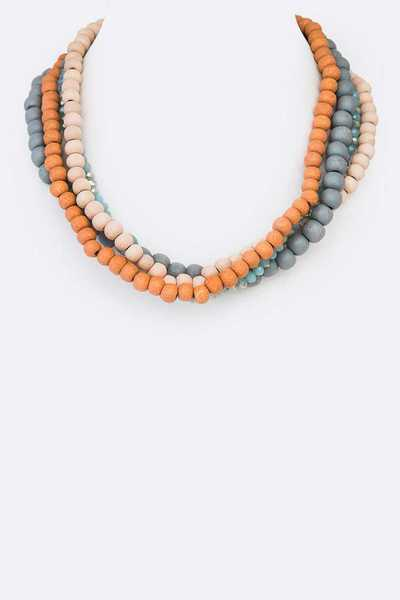 Mix Wooden Beads Necklace