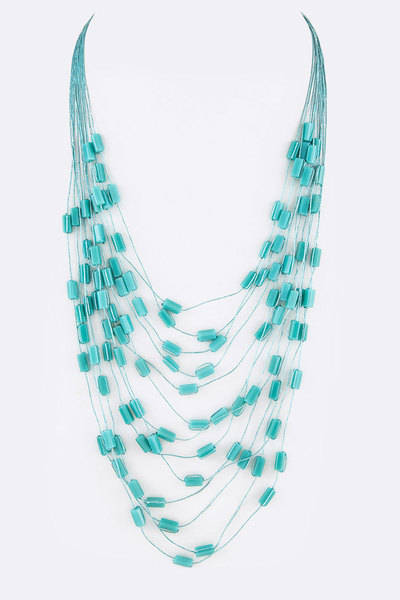 Nugget Beads Station Layer Necklace