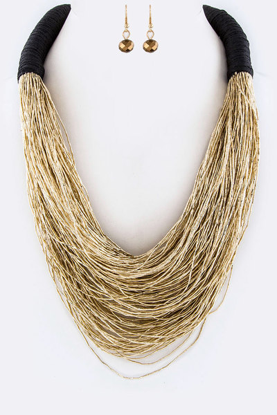 Layer Lurex Necklace Set