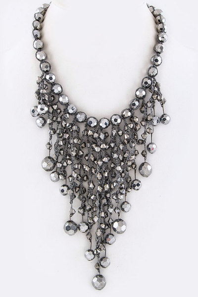Mix Beads Bib Necklace