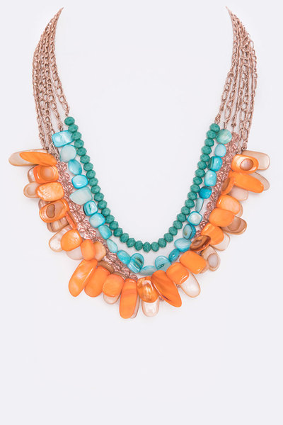 Mix Stones & Beads Layer Necklace