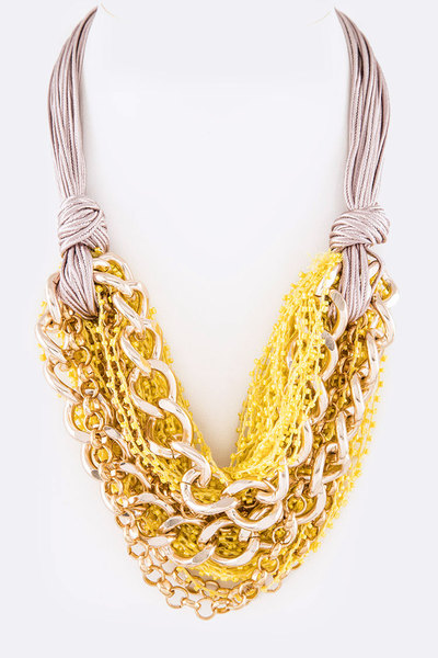 Mix Micro Beads Layer Necklace