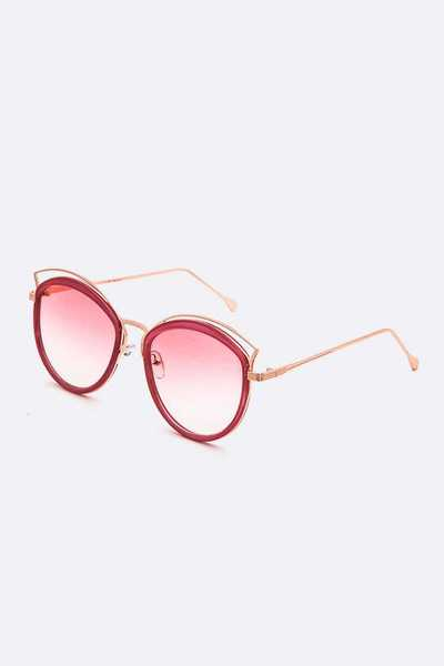 Pastel Color Tint Round Sunglasses
