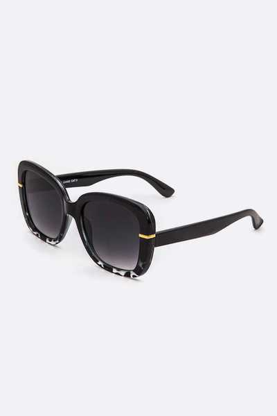 2 Tone Butterfly Sunglasses Set