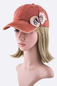 Sequins Bow Fashion Cap