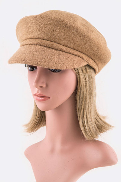 Fashion Wool Cabbie Cap