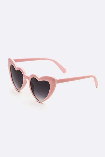 Acrylic Heart Shape Iconic Sunglasses
