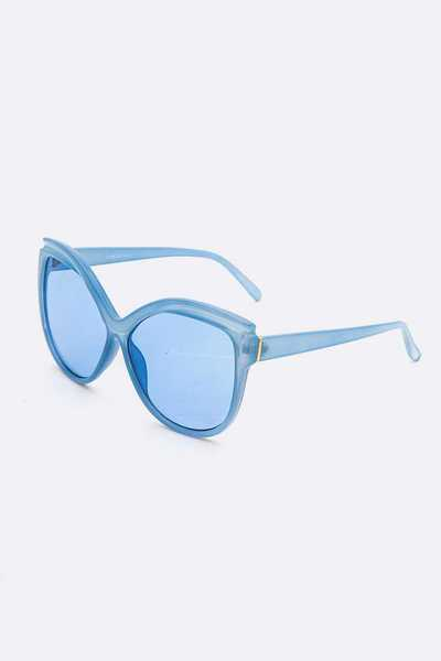 Color Tint Oversize Butterfly Sunglasses