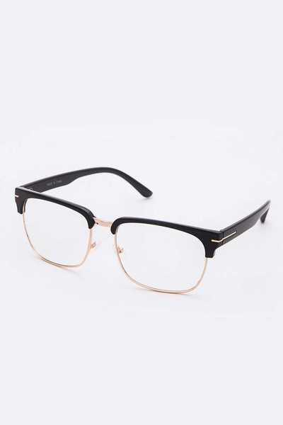 Brow Line Clear Lens Optical Glasses