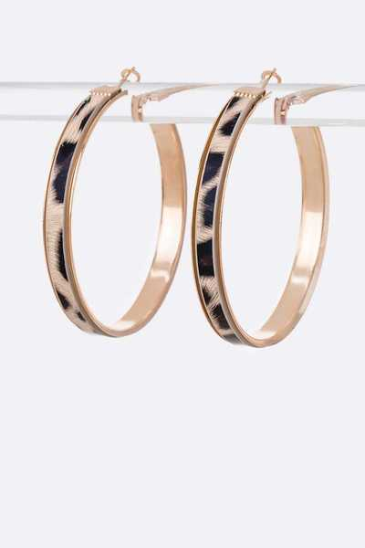 Animal Printed Iconic Hoop Earrings Set