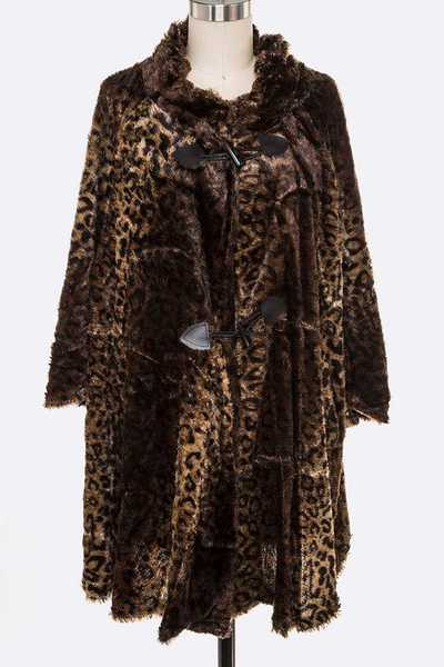 Animal Printed Soft Velour Jacket