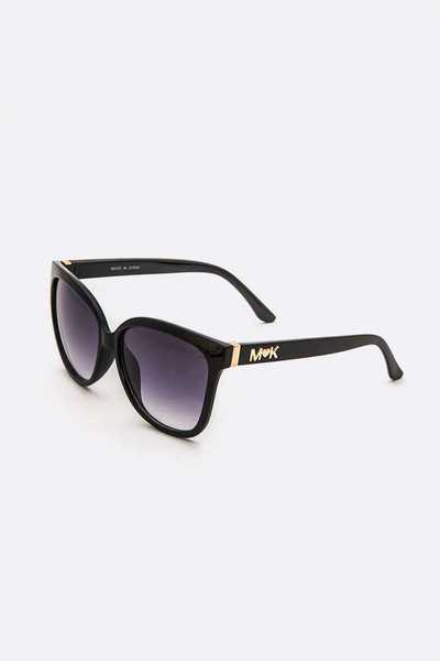 Logo Temple Oversize Fashion Sunglasses Set