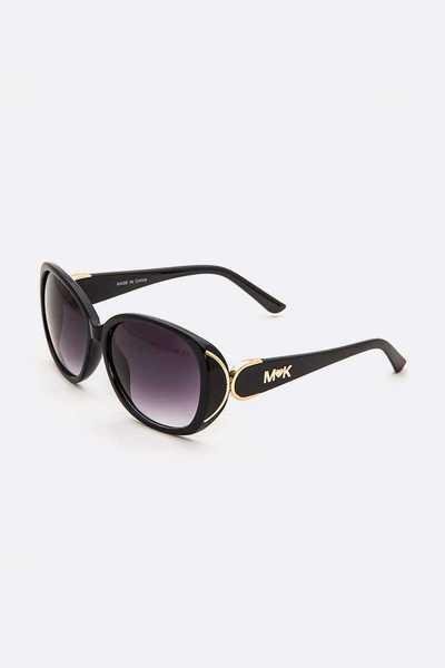 Logo Temple Classic Oversize Sunglasses Set