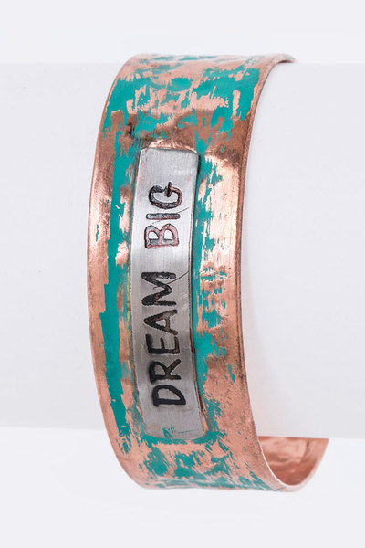 Dream Big Adjustable Vintage Bangle