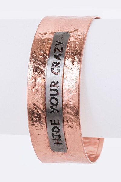 Hide Your Crazy Adjustable Vintage Bangle