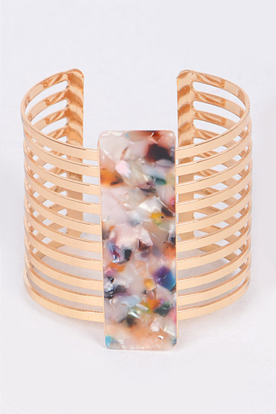 Celluloid Cutout Adjustable Bangle