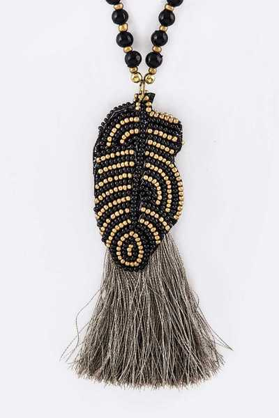 Bead Festival Tassel Necklace