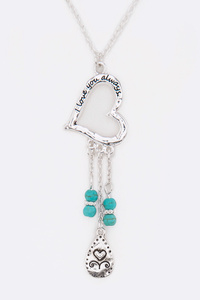 I Love You Always Mix Charm Necklace