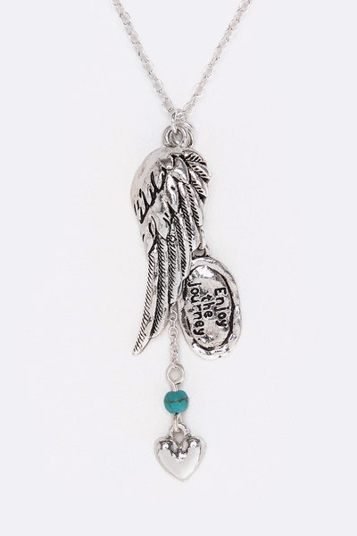 Wing & Mix Charms Necklace Set