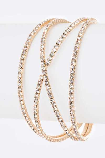 Rhinestone Skinny Iconic Bangle