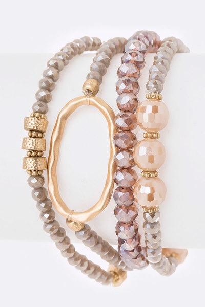 Mix Beads Iconic Stretch Bracelet Set