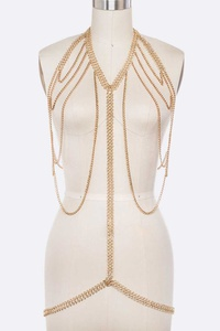 Statement Layer Chain Iconic Body Chain