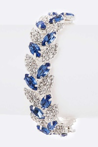 Crystal Rhinestone Flex Bridal Bangle