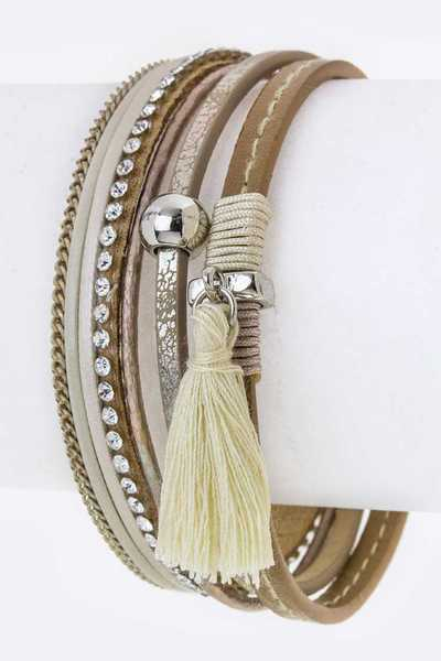 Tassel & Mix Charms Layer Cuff