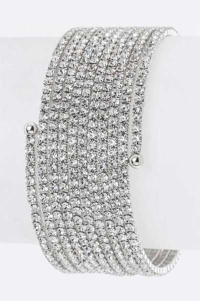 Wrapped Layer Crystals Bangle
