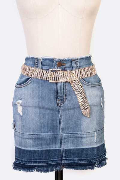 Iconic Rhinestone Buckle Belt