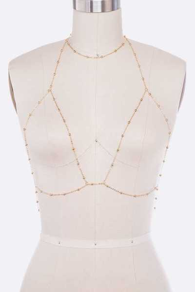 Station Beaded Bra Chain