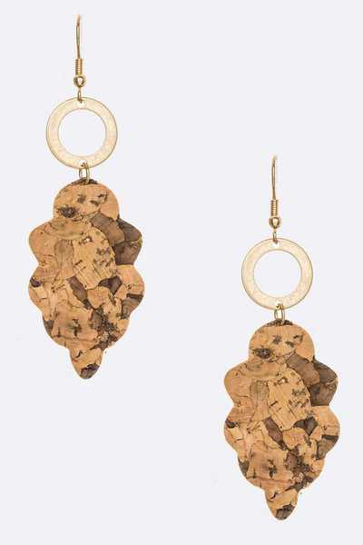 Iconic Cork Drop Earrings