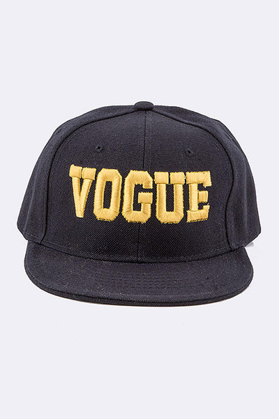 VOGUE Embroidered Flat Brim Cap