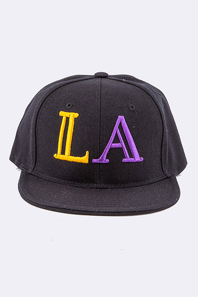 LA Embroidered Fashion Snap Back Cap