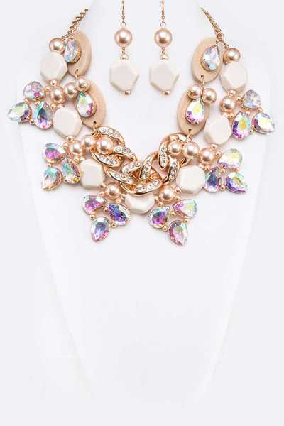 Bejeweled Statement Necklace Set