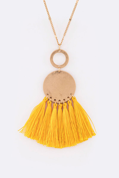 Tassel Pendant Long Necklace