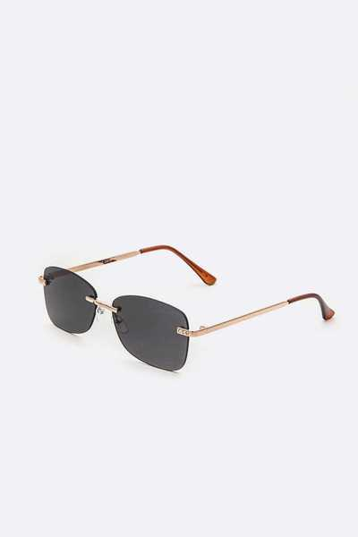 Gold Bar Square Sunglasses Set