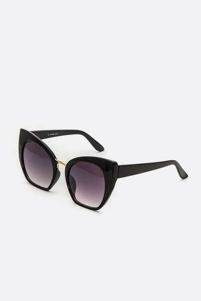 2 Tone Frame Cat Eye Sunglasses Set